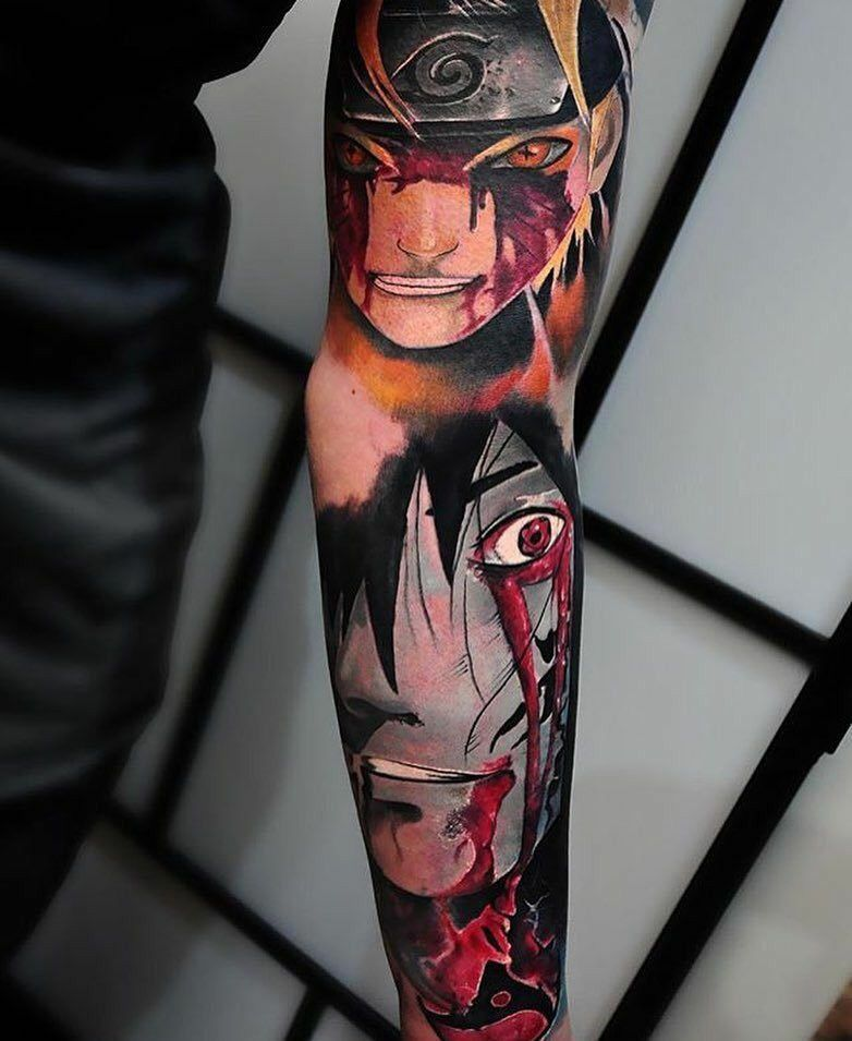 Top 30 Anime Tattoo Ideas Design For Man Anime Tattoos Naruto Tattoo Tattoos