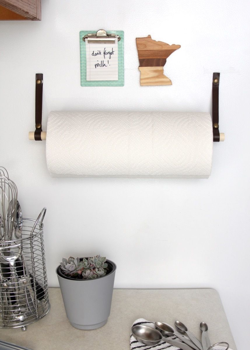 Make This Simple Magnetic Paper Towel Holder To Save On Kitchen Counter E