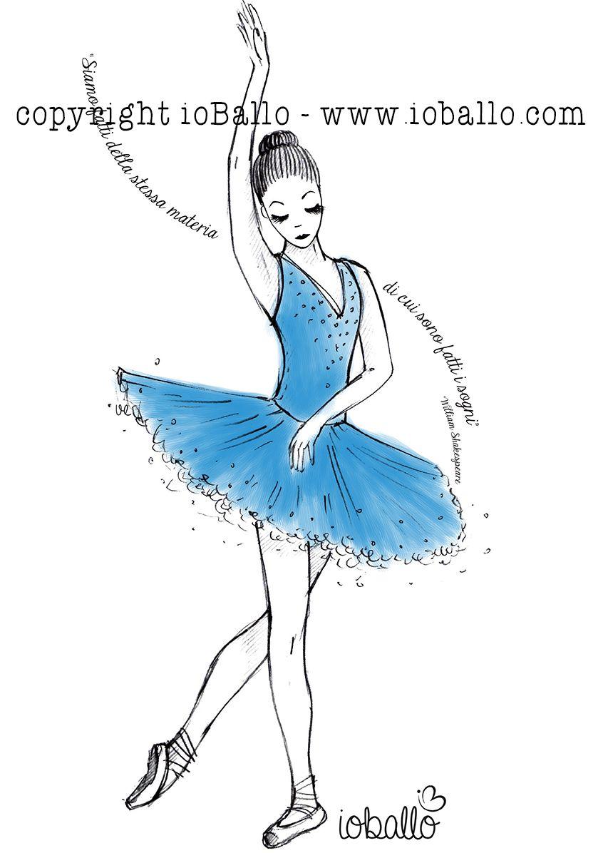 T-shirt ispirata alla danza classica. Abbigliamento e moda per la danza online nel sito www.ioballo.com  T-shirts inspired by ballet. Clothing and fashion for ballet online at www.ioballo.com