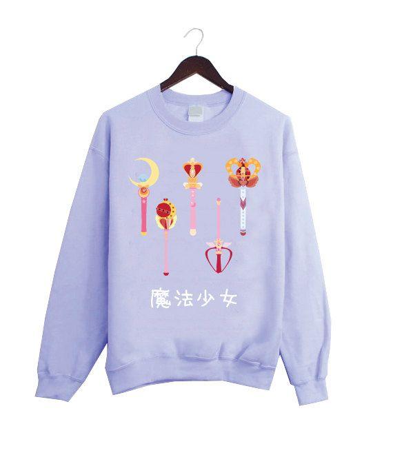 Artículos similares a Mágica muchacha moda rosa camiseta inspirada en Anime  japonés Sailor Moon! en Etsy