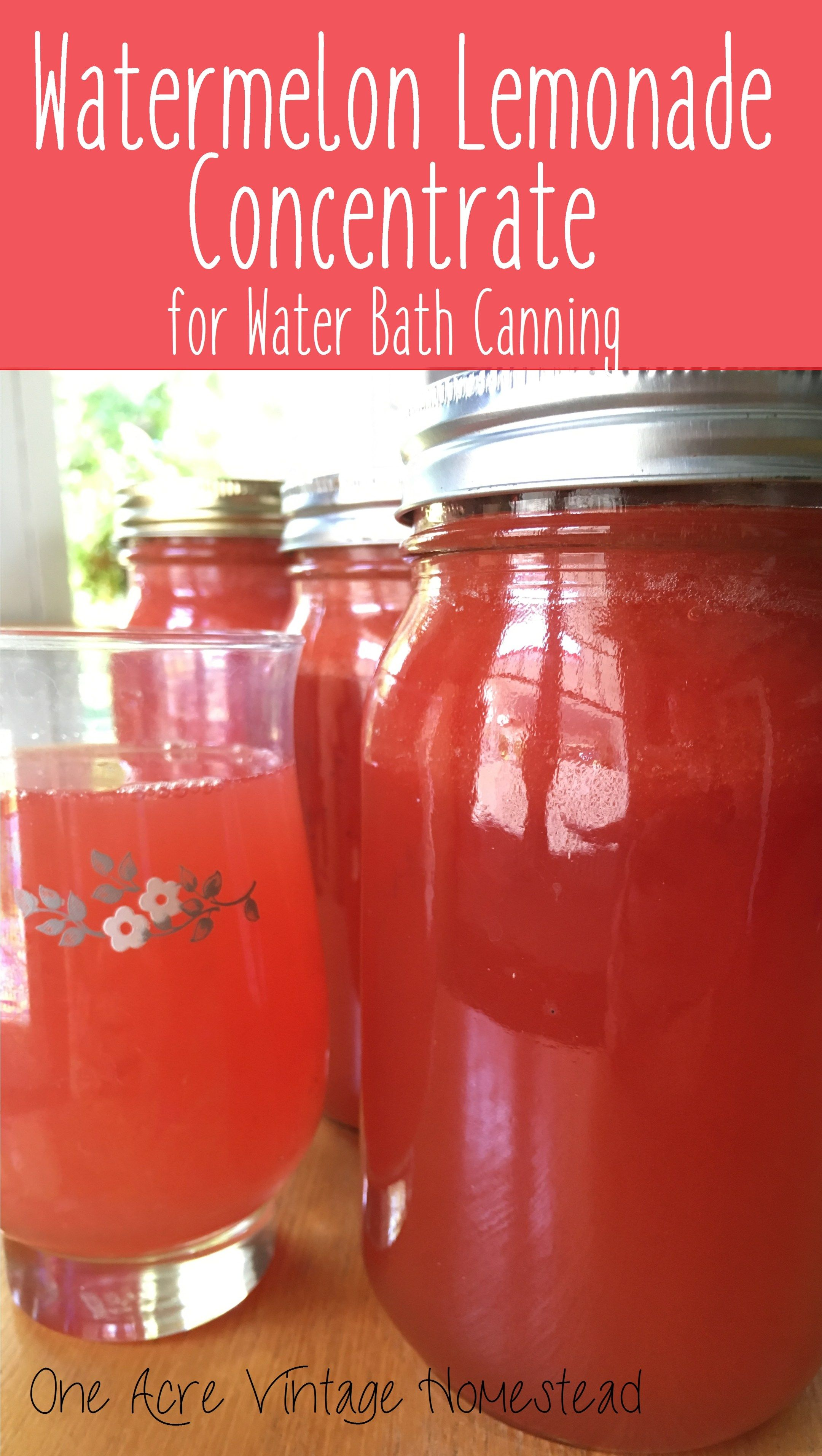 Watermelon Lemonade Concentrate A Water Bath Canning Food Preservation Recipe Recipe Canning Food Preservation Water Bath Canning Recipes Lemonade Concentrate