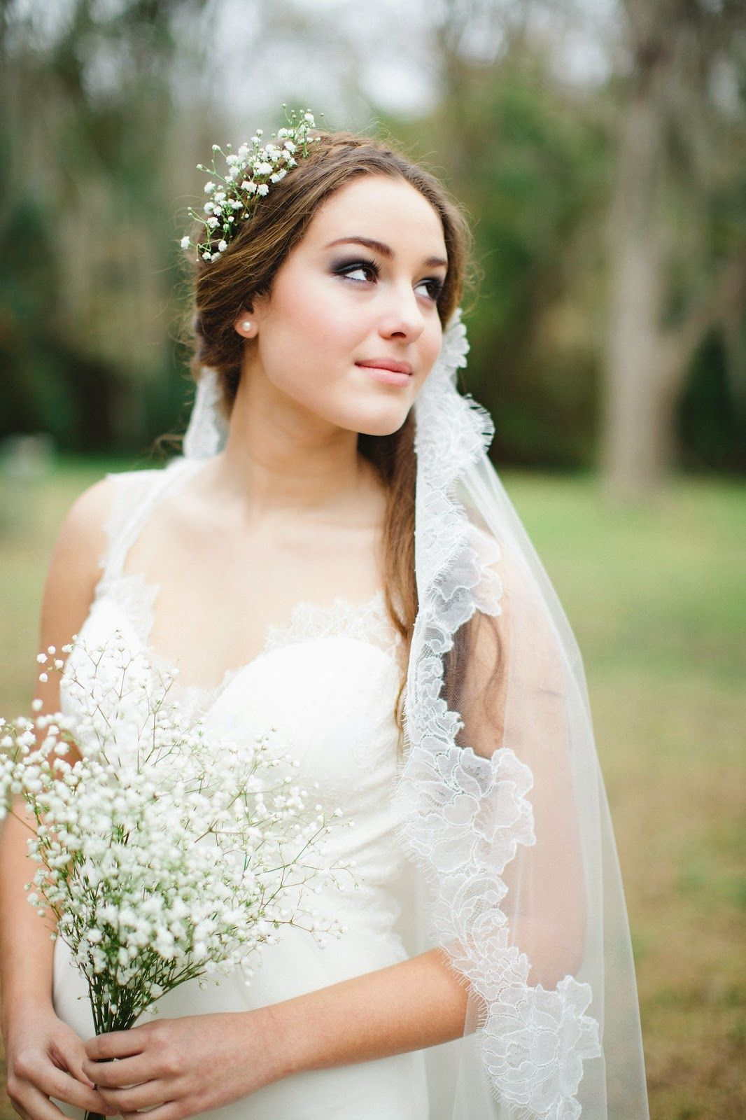Bridal veils with flowers plaits google search wedding secrets