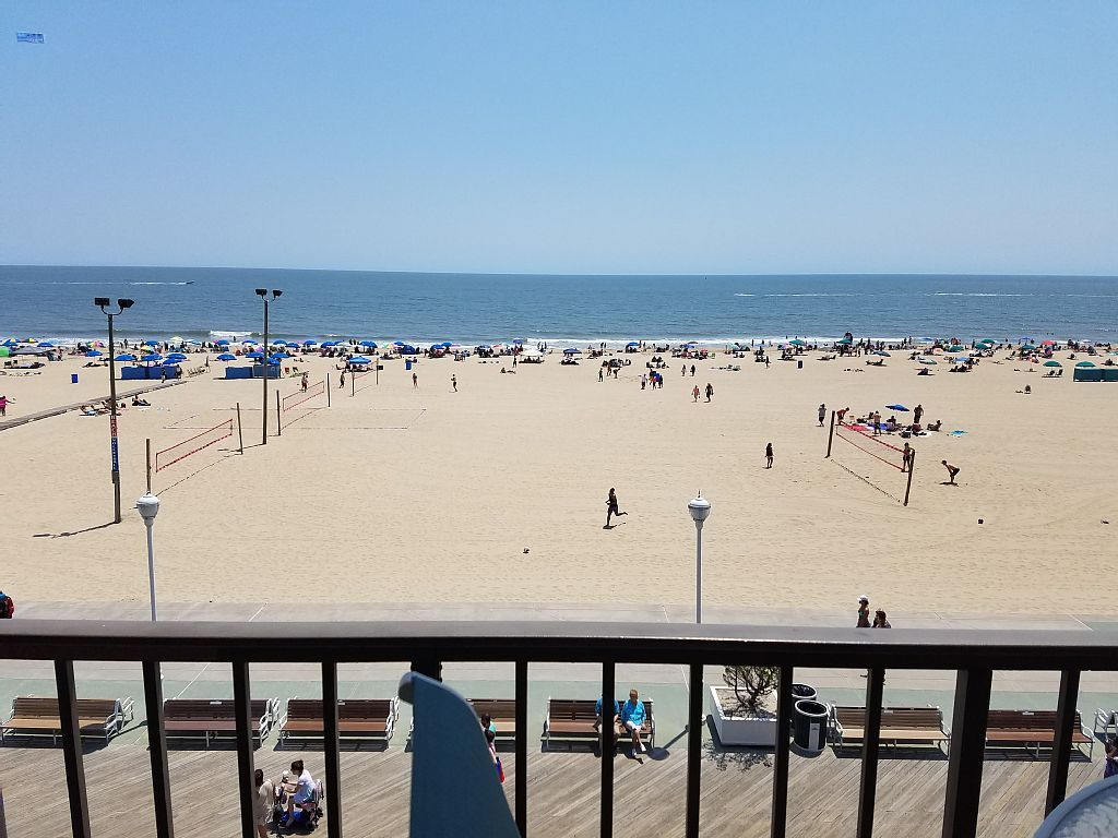 $360 pp. directly on boardwalk but very small. condo vacation