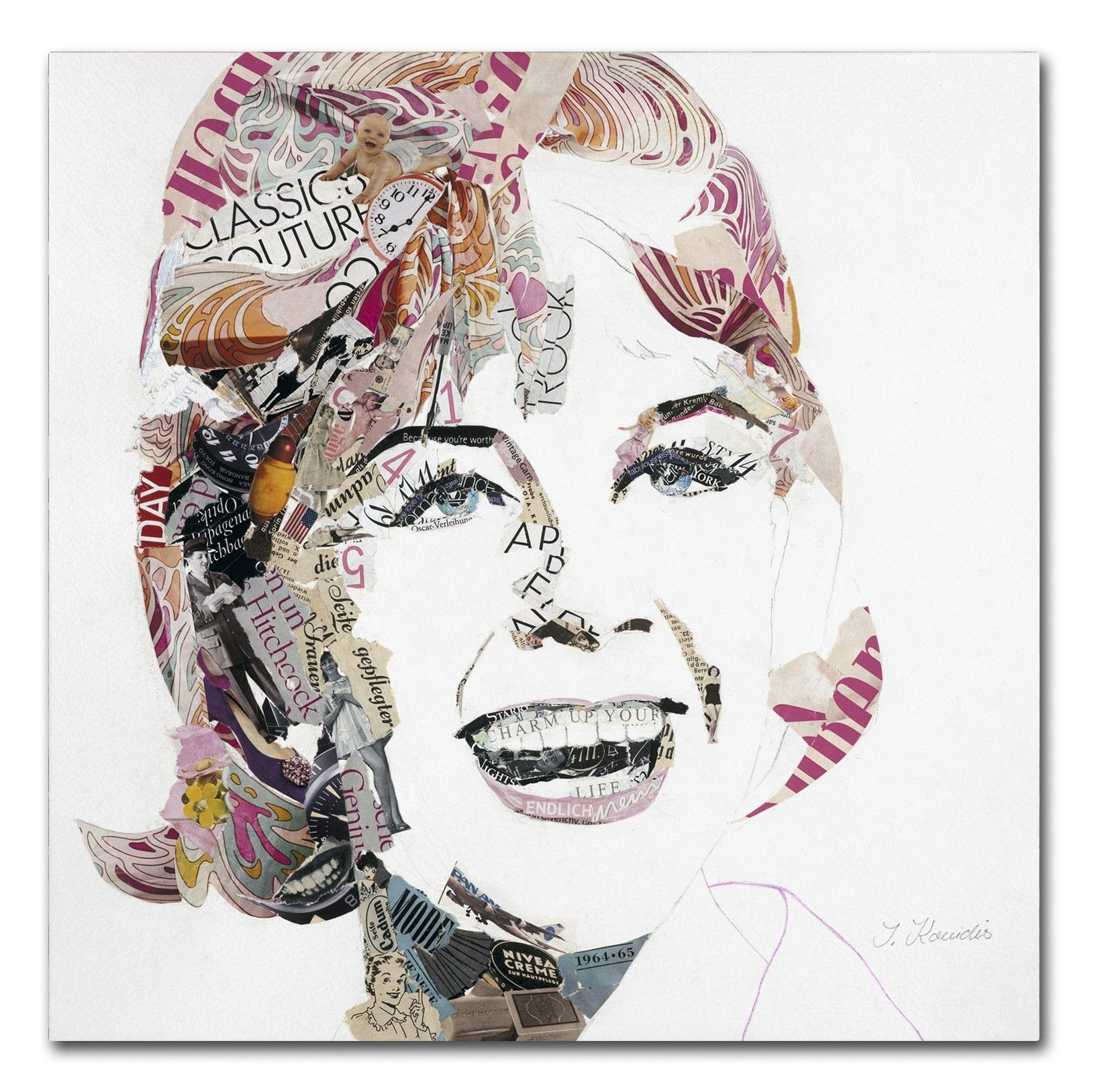 Doris by Ines Kouidis Graphic Art on Wrapped Canvas
