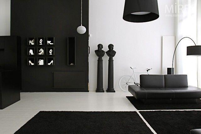 Interior, Contemporer Decor Black and White for Home Minimalist