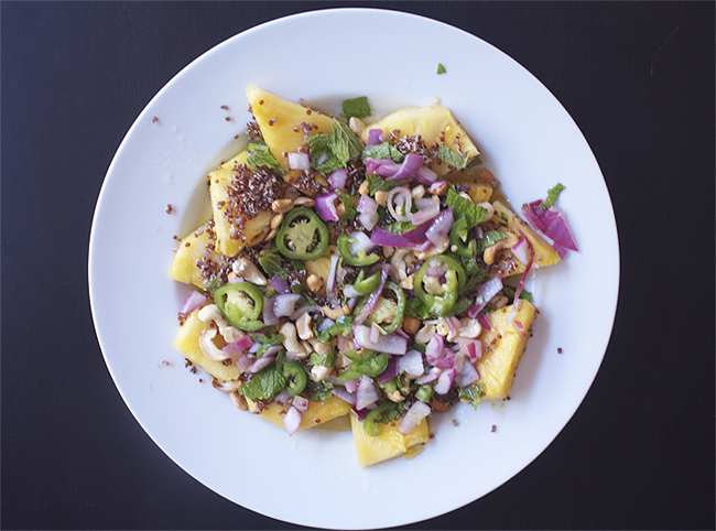 pineapple quinoa salad {perfect for Bikini Boot Camp}