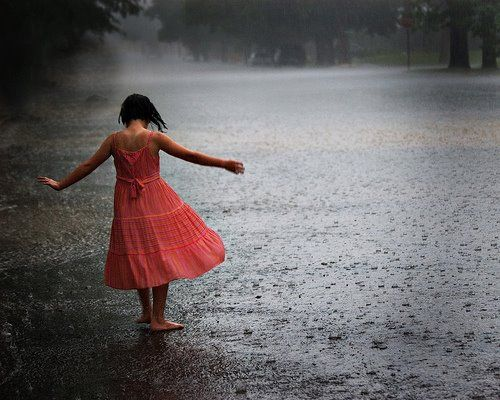 She who dances with you in.the rain will walk with you through the storm.
