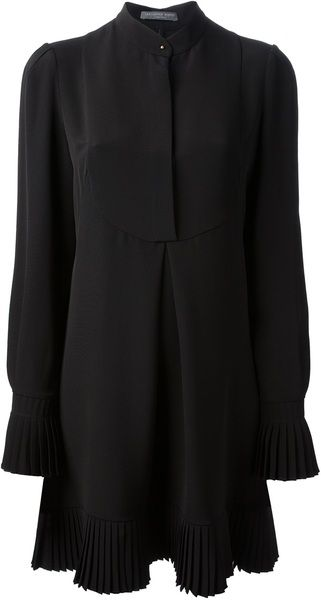 Pleated Blouse Dress - MCQUEEN