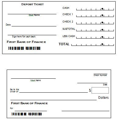 Printable Checks And Deposit Slips | Wioa Youth Financial