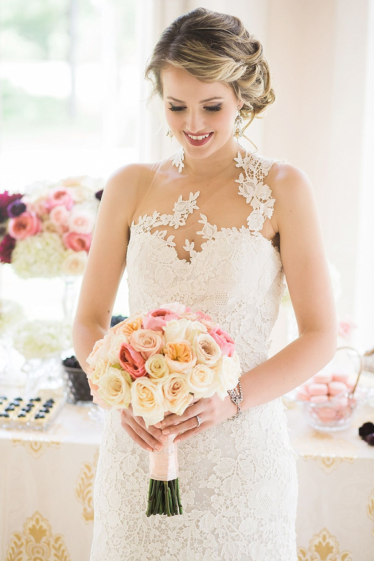 Love this wedding dress? Check out the I Do! Wedding Soiree on 10/18 at the Four Seasons Hotel Houston and find your perfect wedding gown. $25 Pre-sale tickets: http://conta.cc/1L0vcYu  Photo: Akil Bennett Photography ~ Gown: Mia Bridal Couture ~ Decor: A Memorable Event ~ Makeup & Hair: Hayley & Co.