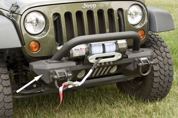 The PreOwned Jeep Store   Aluminum Front XHD Bumper Ends, 07 14 Jeep  Wrangler