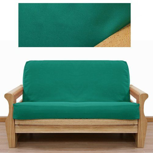 Solid Teal Futon Cover Loveseat 414 By Slipcover 65 00 See Sizing And Product Description