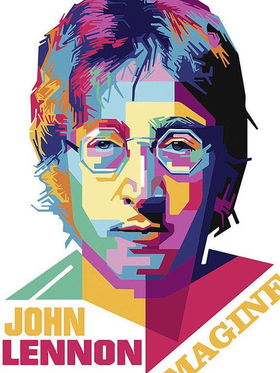 John Lennon Print Imagine Poster Lyric Wall