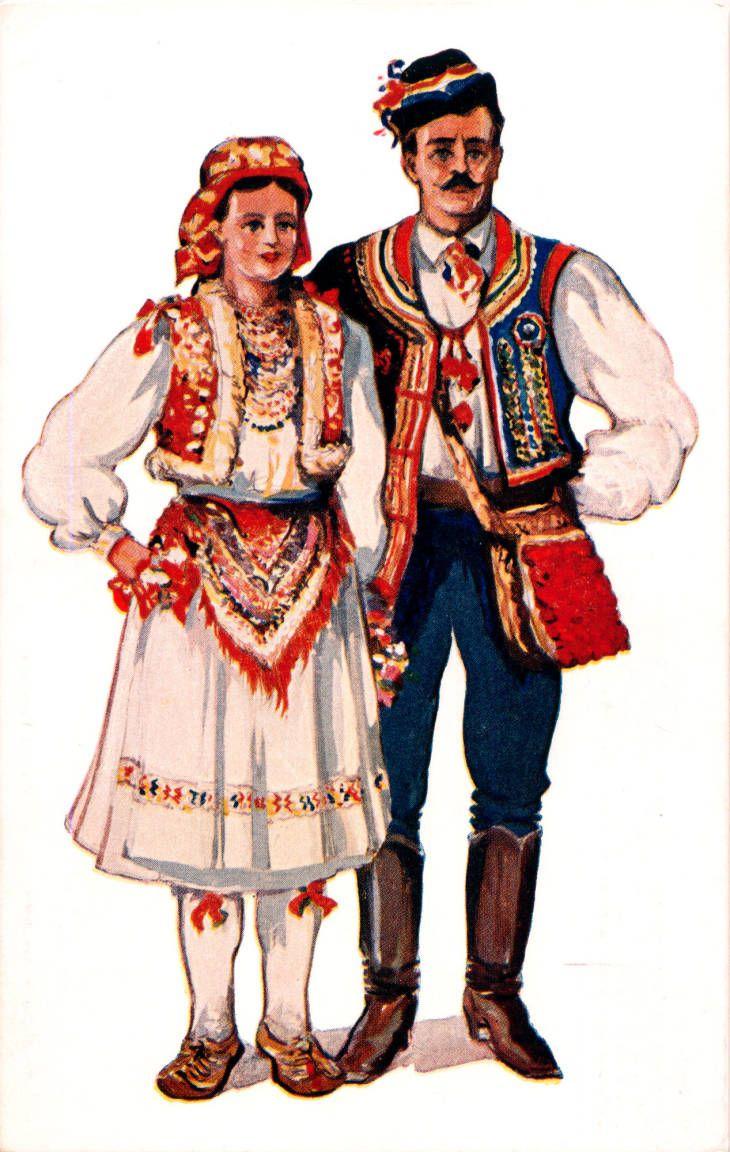 Illustration Of Man And Woman In Costume Zagreb Sestine Croatia Former Yugoslavia Circa 1930 1937 Payne Costumes Around The World Folk Costume Croatia
