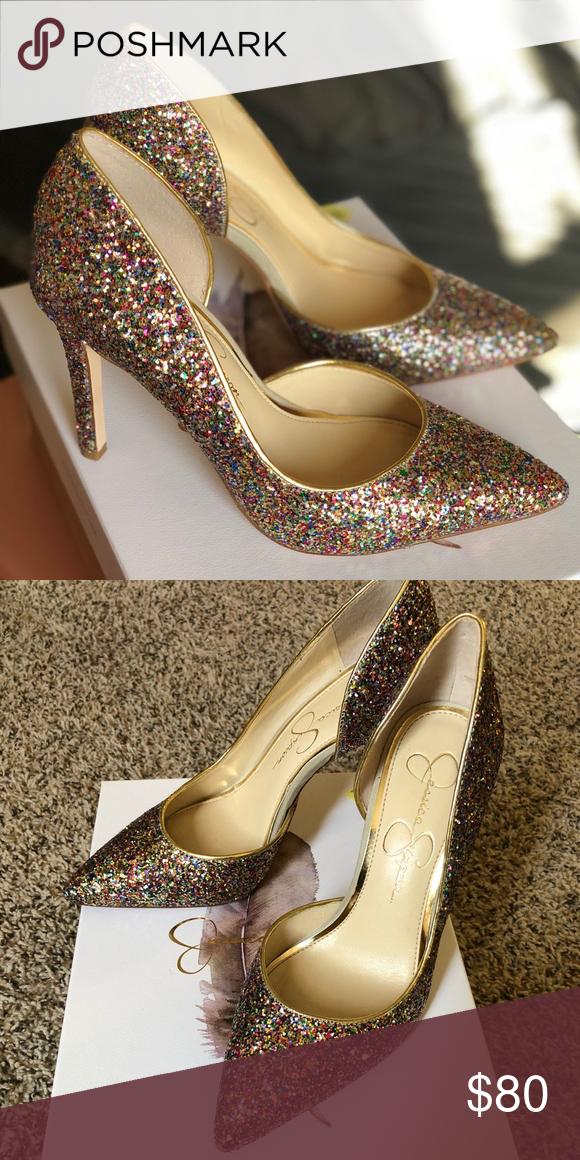 Jessica Simpson glitter pumps. Size 6.5