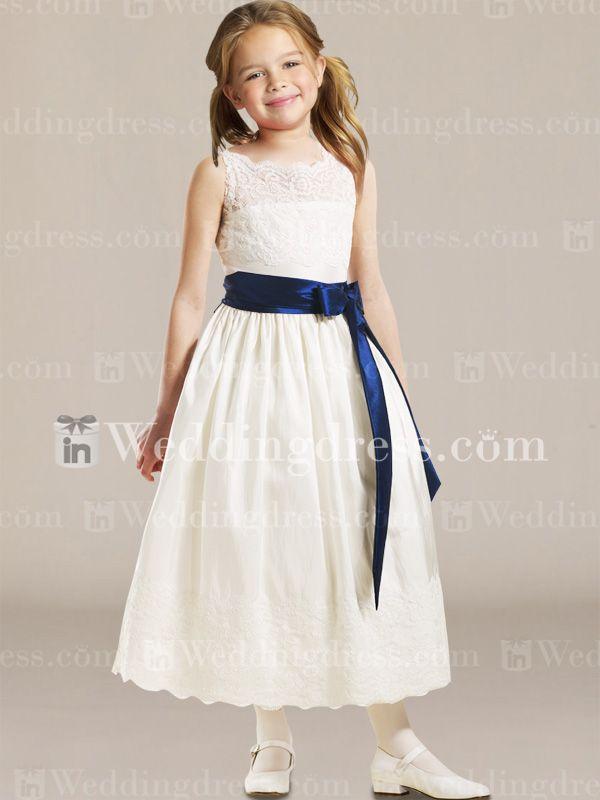 Sleeveless A-Line Flower Girl Dress with Lace Fl112 - Our Flower Girls Dress!!!