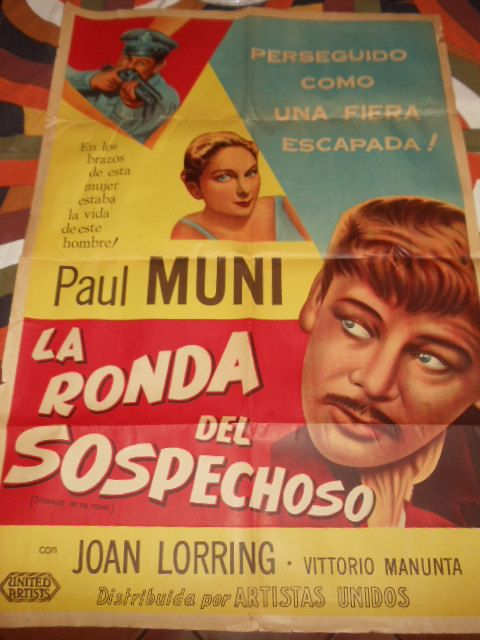 Vintage Italian Movie Poster Staring Paul Muni in by TheRightSpot, $80.00