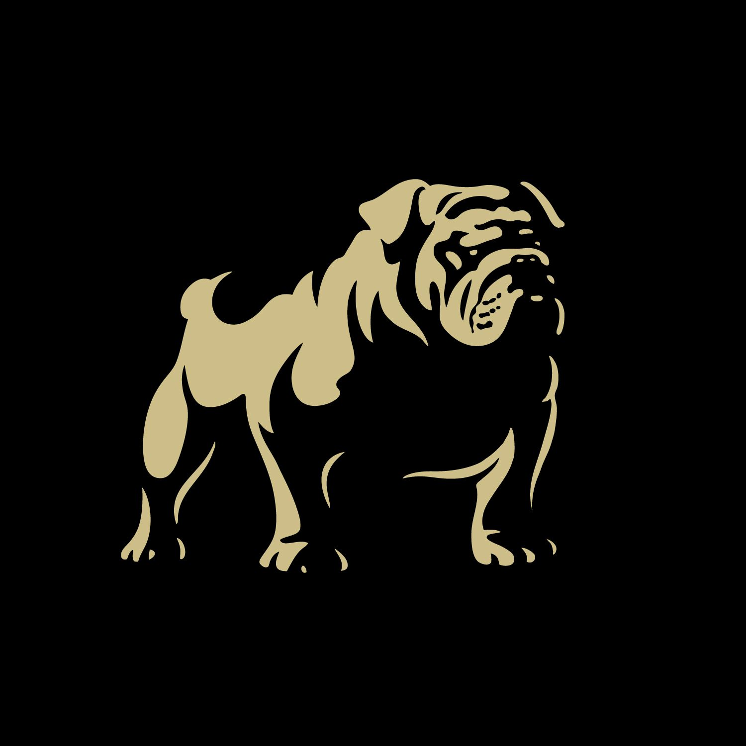 United Design Bulldog Logo Bulldog Art Bulldog Mascot Dog