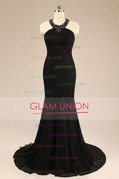 2016 cabestro vestidos de baile de la sirena de la gasa de tren de barrido MXN 4068.89 GUP1KPELST - GlamUnion.com for mobile