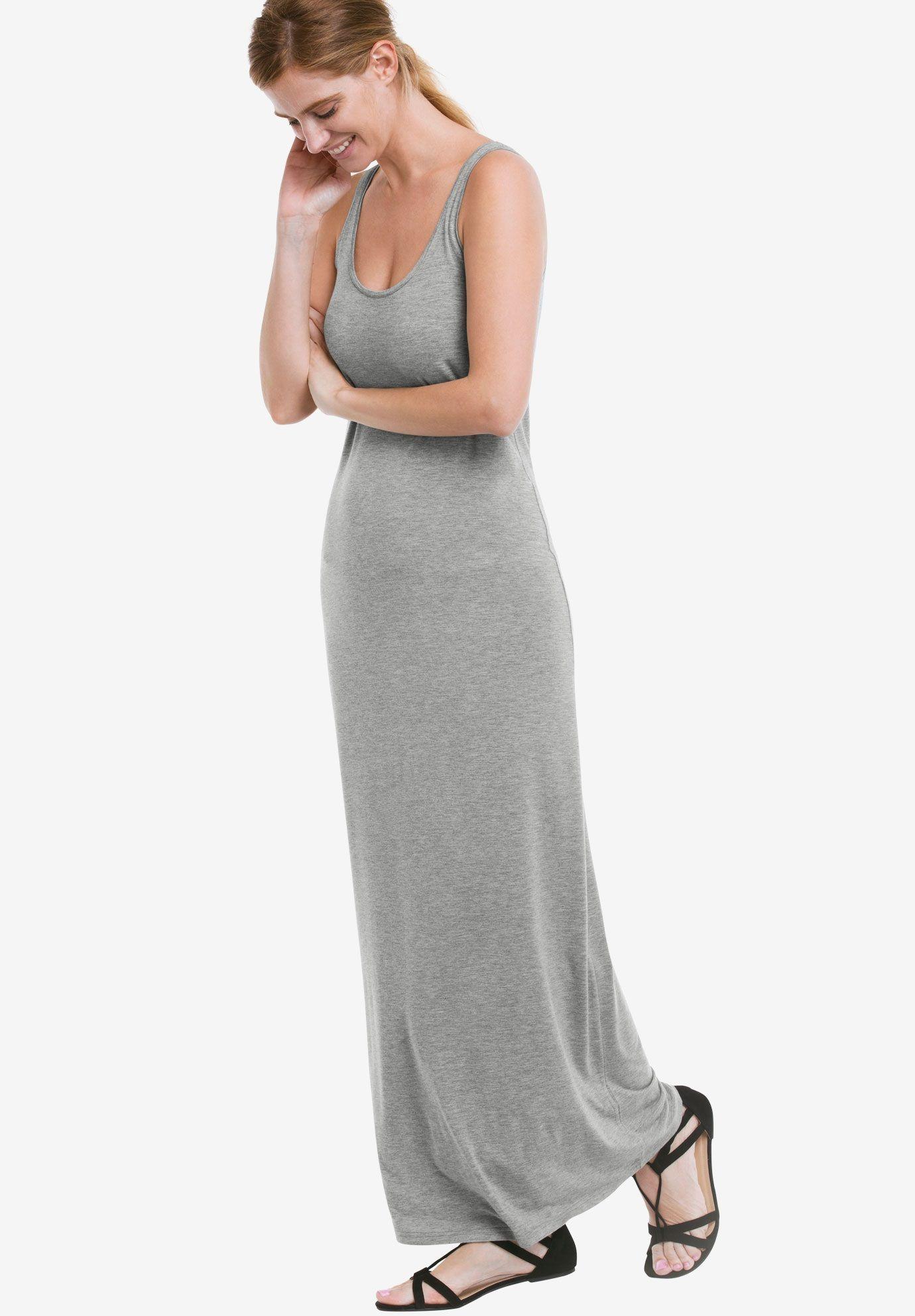 b71f7fdbada43 Sleeveless Knit Maxi Dress by ellos - Women s Plus Size Clothing ...
