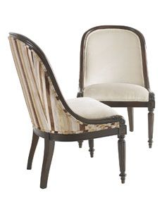 Two-tone chair - would make a great dining chair or accent chair in living room