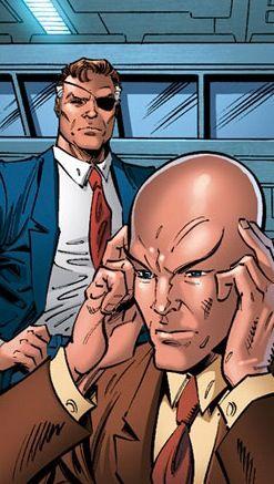 Nick Fury and Charles Xavier (from X-Men Forever) | Superhero comic, Nick fury, Comic heroes