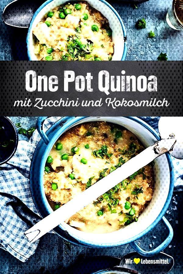 One Pot Quinoa Durch die Kokosmilch wird unser Rezept für One Pot Quinoa mit Zucchini, Erbsen und
