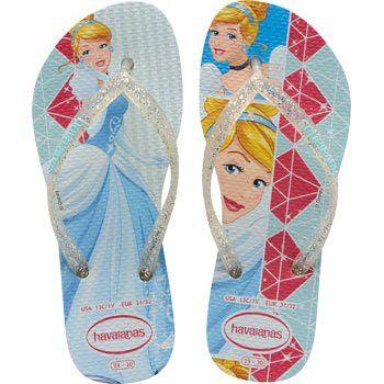 18a7531bc Havaianas Kids Slim Princess White White Flip Flop
