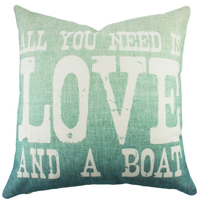 Love and a Boat Pillow  @Pascale Lemay De Groof
