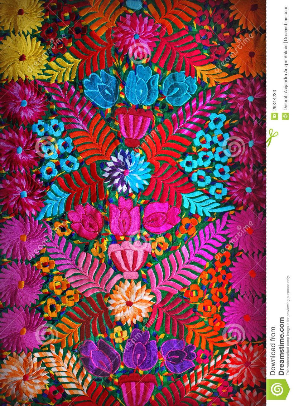 Mexican floral embroidery download from over million