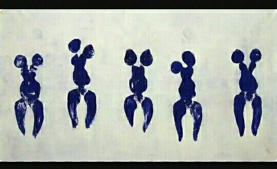 221. Yves Klein, Anthropometrié de l'epoque bleue (ant82) 1960 m 1,56x2,82 tela Parigi m National d'Art Moderne