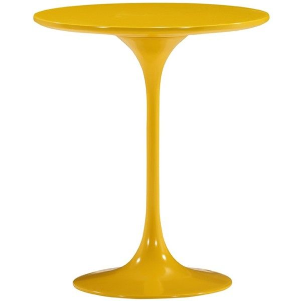Zuo Modern Wilco Side Table Yellow ($298) ❤ liked on Polyvore featuring home, furniture, tables, accent tables, painted end tables, contemporary accent table, yellow end table, yellow furniture and painted accent tables