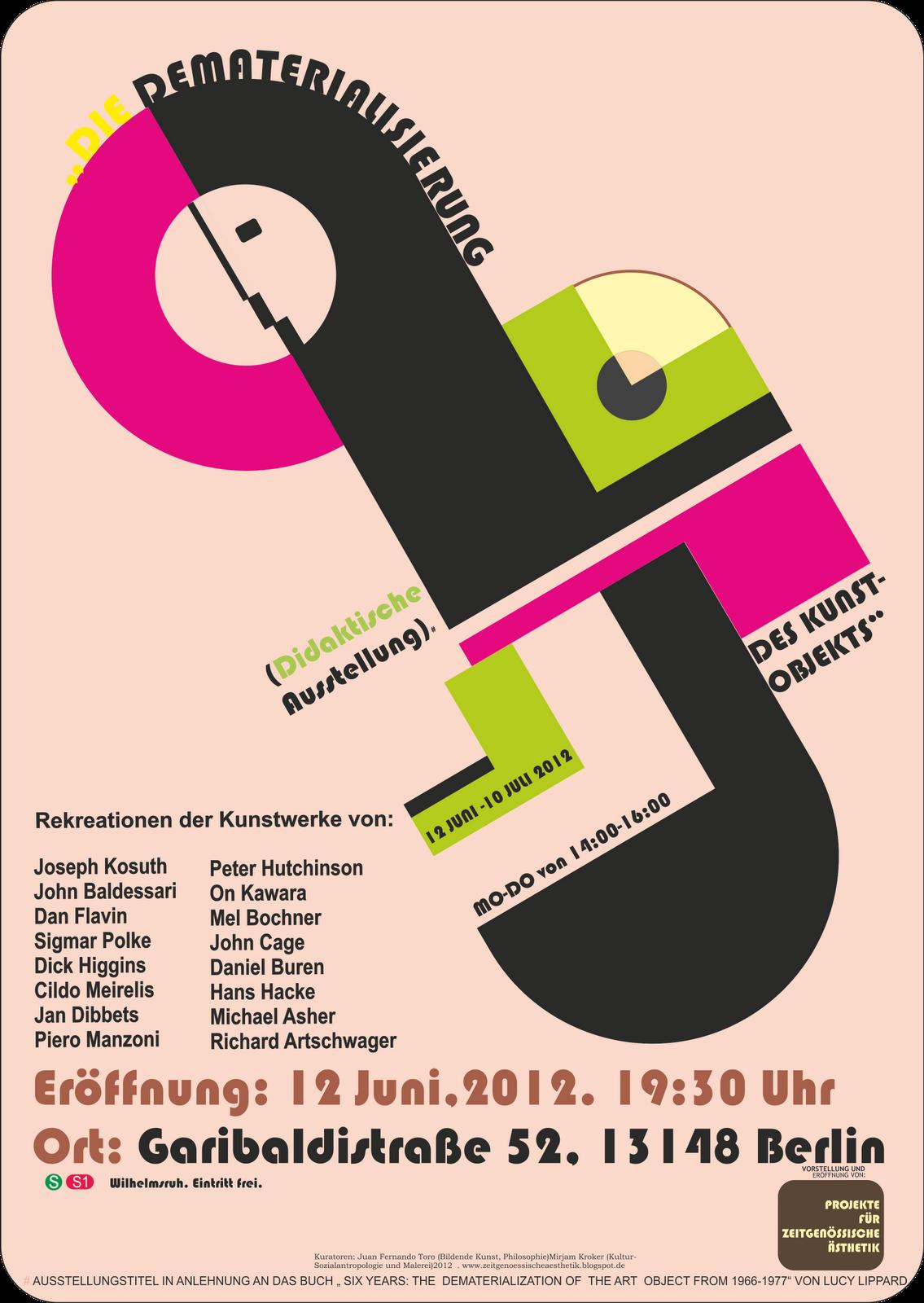 Projekte für zeitgenössische Ästhetik. http://www.zeitgenoessischeaesthetik.blogspot.de/#