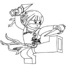 ninjago coloring pages nya - Ninjago Coloring Page
