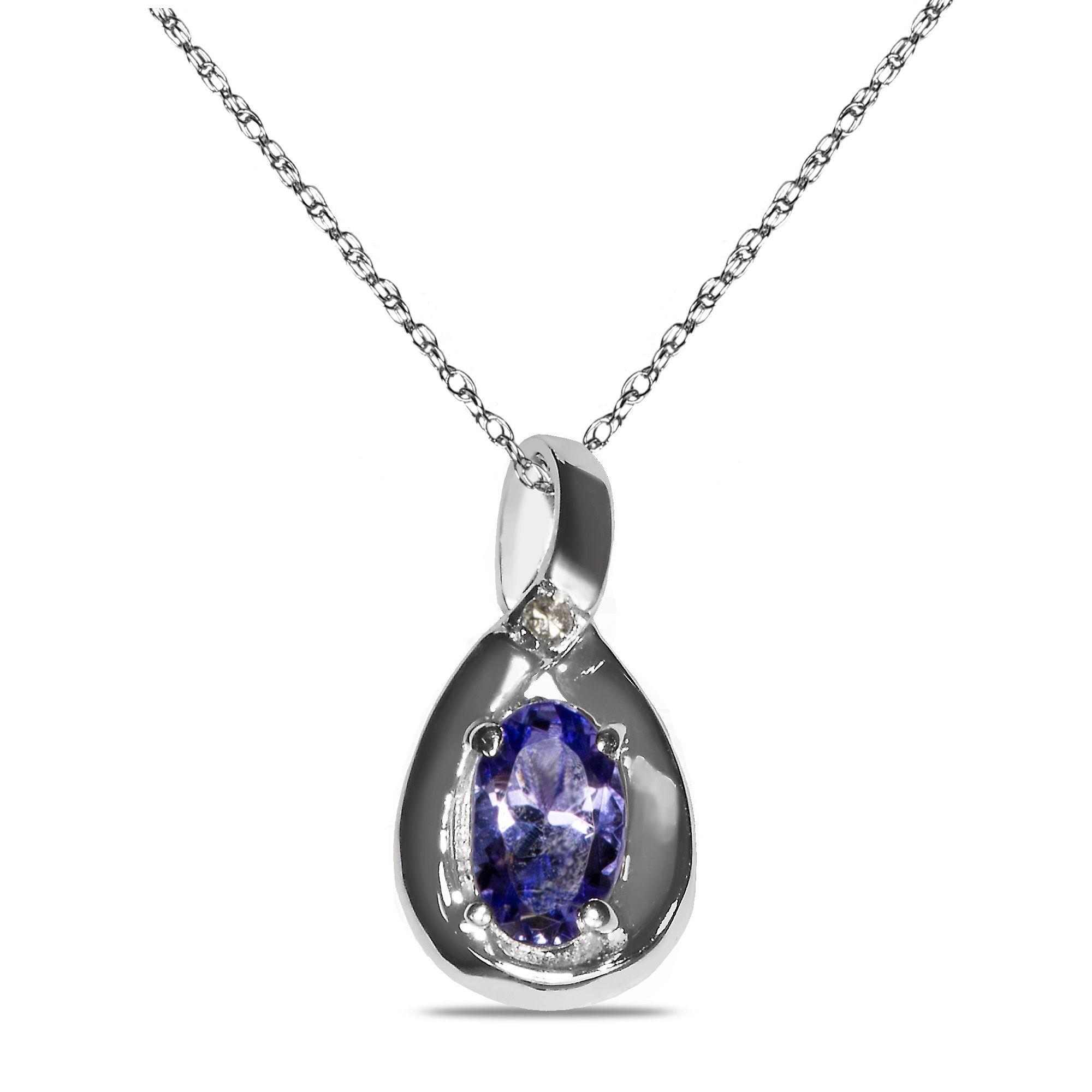 Etsy NissoniJewelry presents - Diamond Accent Tanzanite Pendant in 10k White Gold    Model Number:P7375A-W077TA    https://www.etsy.com/ru/listing/289113833/diamond-accent-tanzanite-pendant-in-10k