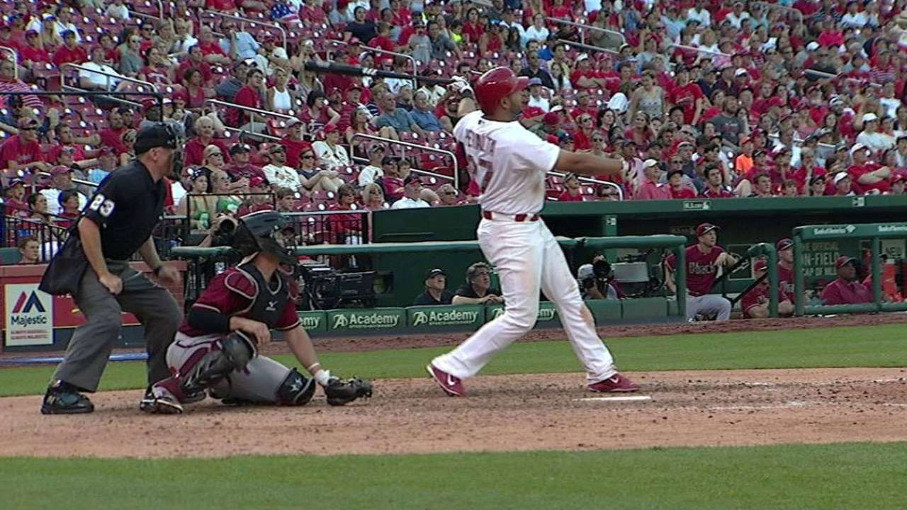 Peralta's blast lifts Cardinals in 10 innings   AND ITS A WINNER