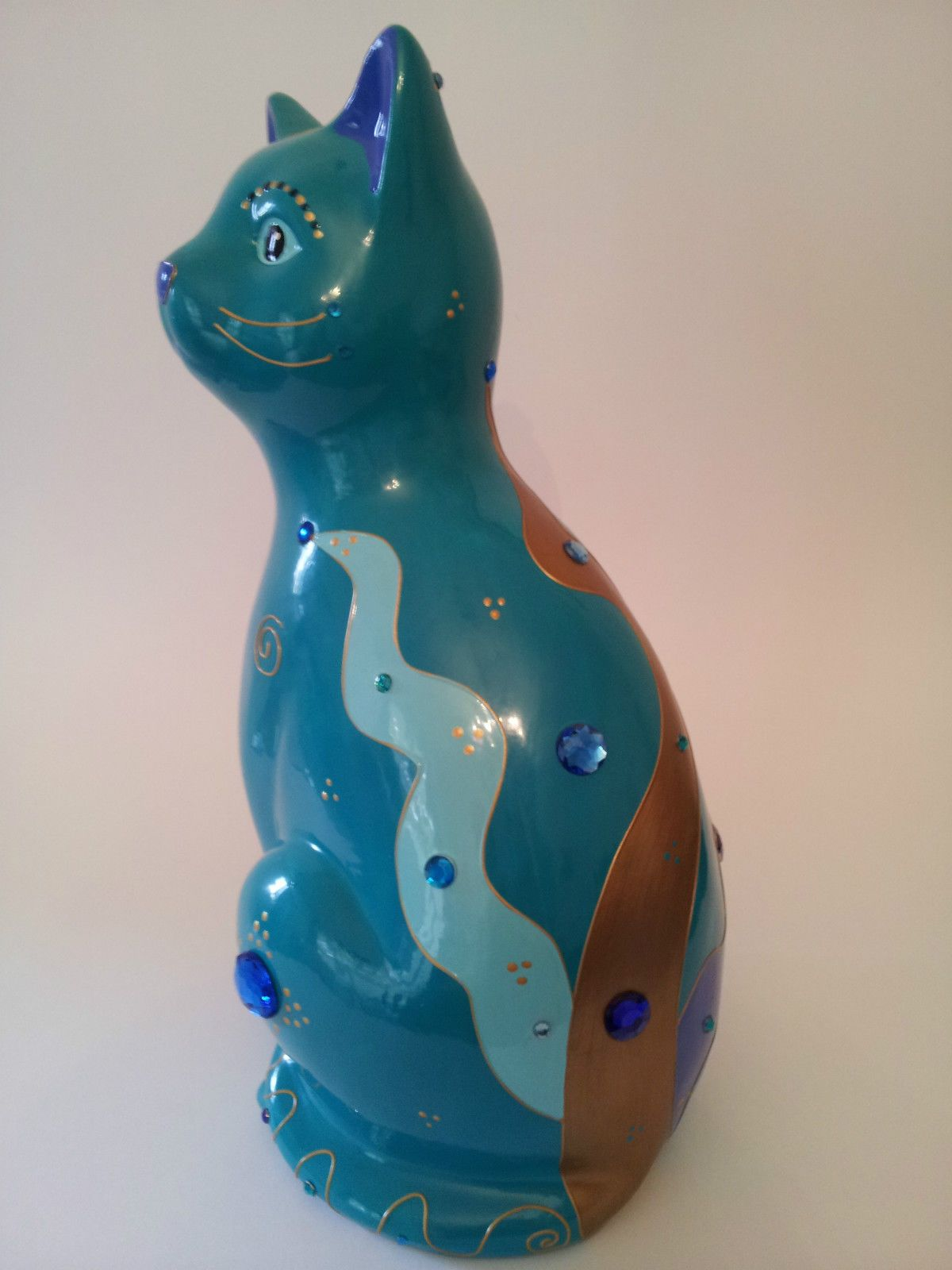 """Statue of cat """"Indigo"""" ceramic, decoration or collection by Laure Terrier   eBay"""