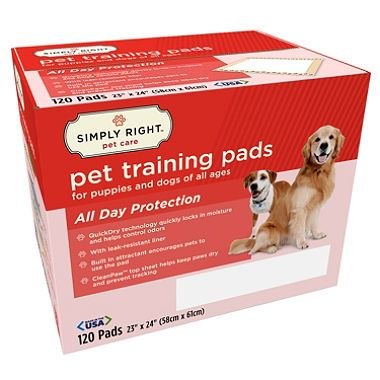 Simply Right Pet Training Pads 23 X 24 120 Ct Sam S Club