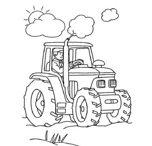 Раскраска трактор   Раскраски, Раскраски с животными ...
