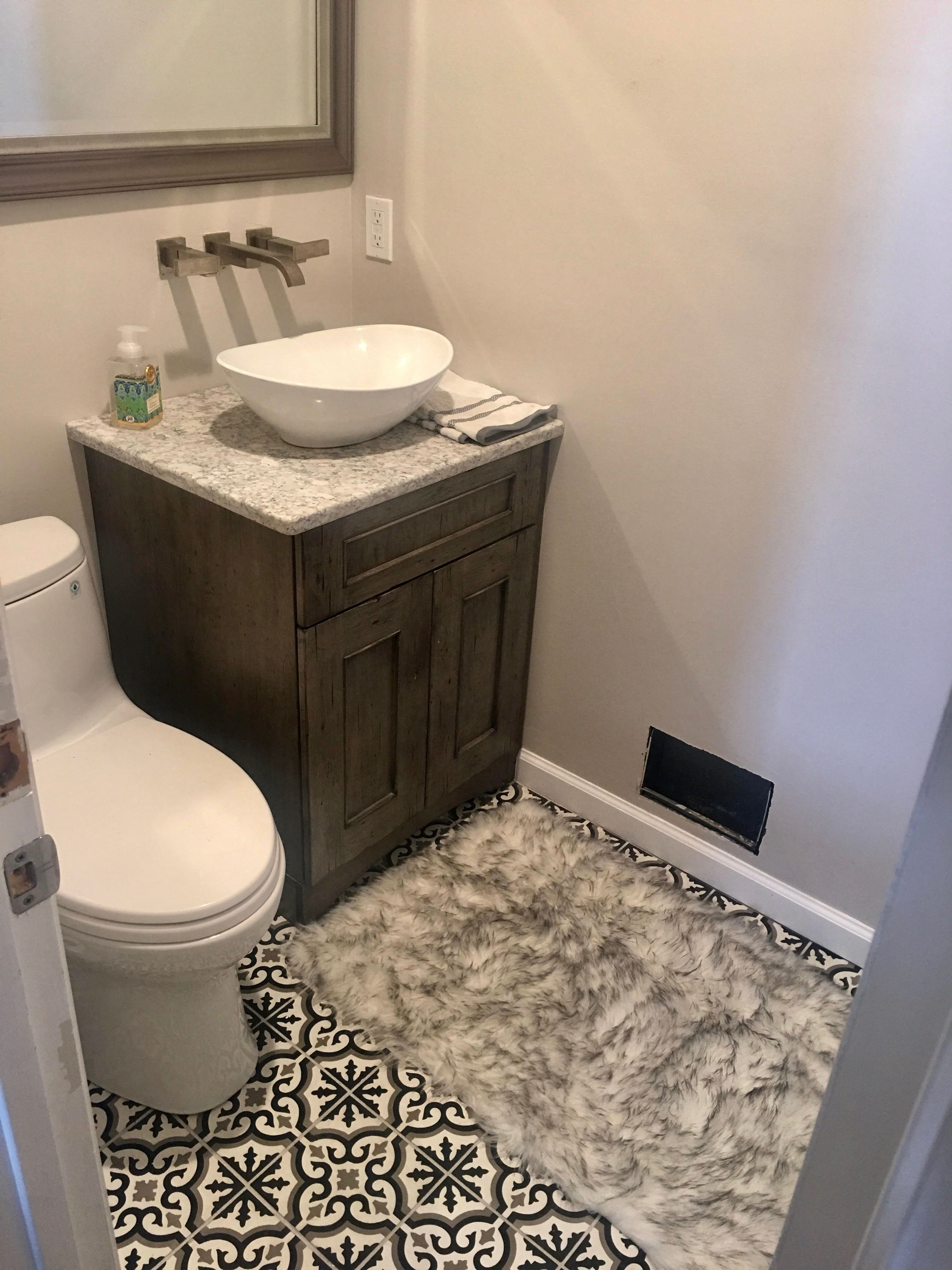 Powder Room Dream With Decorative Italian Tile