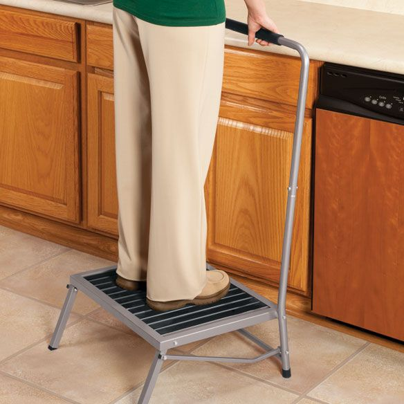 Extra Wide Folding Step Stool With Handle With Images Folding Step Stool Step Stool Wooden Dining Room Chairs