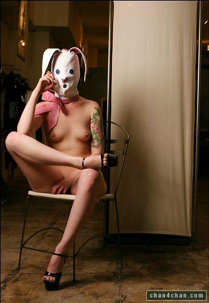 big bunny head naked
