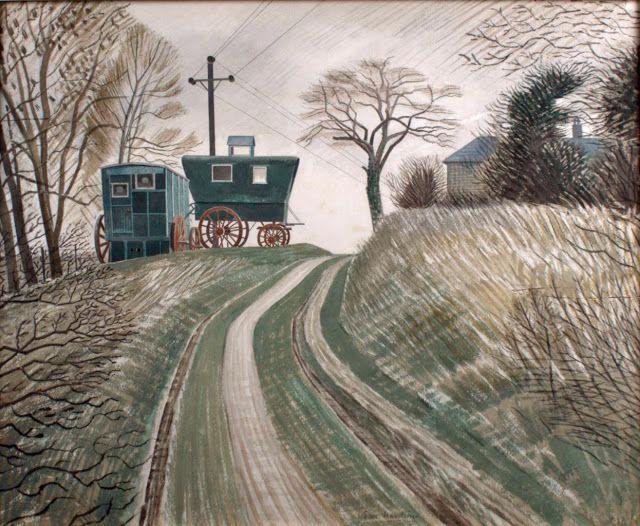 ART & ARTISTS: Eric Ravilious – part 1 / Caravans 1936