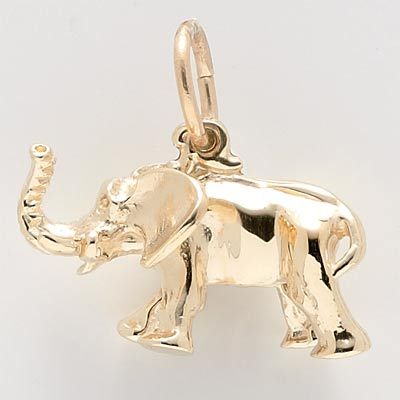 Elephant Charm $52.50 http://www.charmnjewelry.com/gold-charms.htm