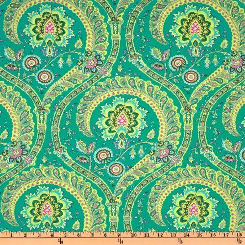 Amazon.com: 54'' Wide Amy Butler Home Decor Lark Feather Paisley Jade Fabric By The Yard: amy_butler: Arts, Crafts & Sewing