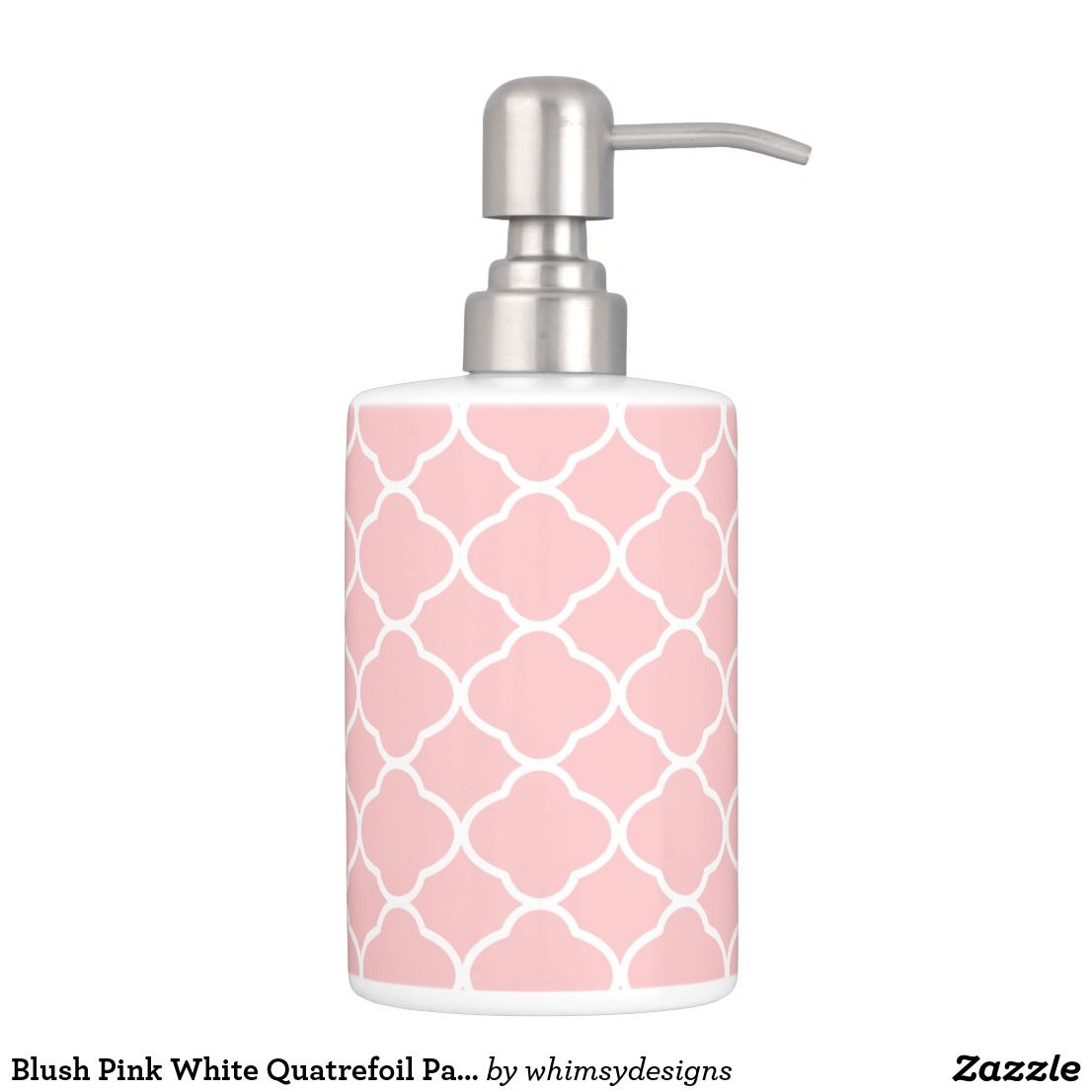 Blush Pink White Quatrefoil Pattern Bathroom Set | Pinterest ...