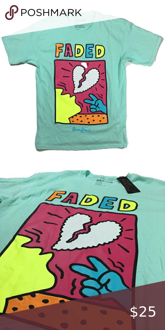 "Men's ""Faded"" T-Shirt. Size Large."