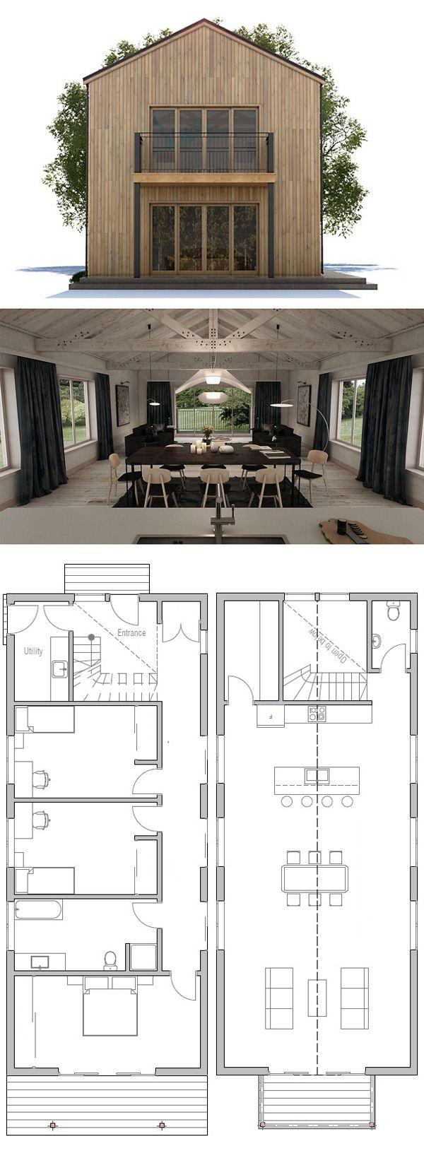 Attractive Schmales Haus Plan