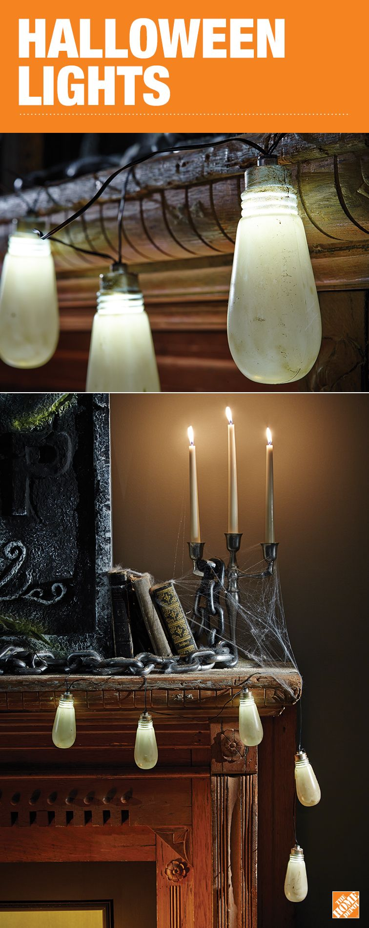 Decorative lights aren\u0027t just for Christmas! Decorate your house or - Halloween Decorations For The Office