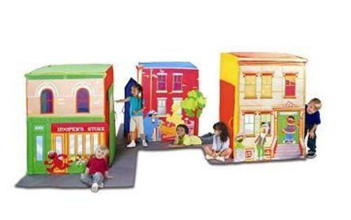 From the Manufacturer Join Big Bird Elmo and the rest of the Sesame Street gang at the corner of any one of the three play tent ...  sc 1 st  Pinterest & Playhut Playhut Sesame Street Town by Playhut. $66.08. From the ...